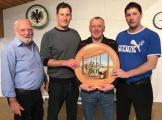 Geburtstagsscheibe 100 Jahre Pfaff Buam mit Sieger Walter Kiffe